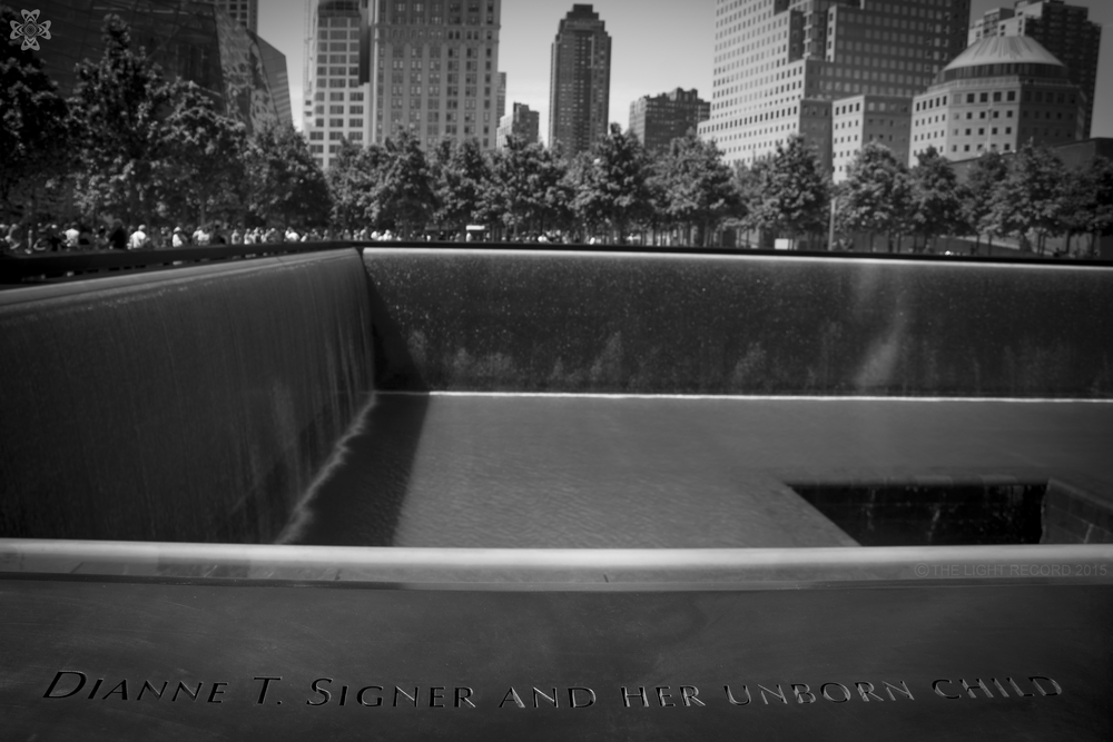 There are more inscriptions like this one at the 9/11 memorial.  Though almost 80% of those who died were male, far too many women and mothers were lost as well.