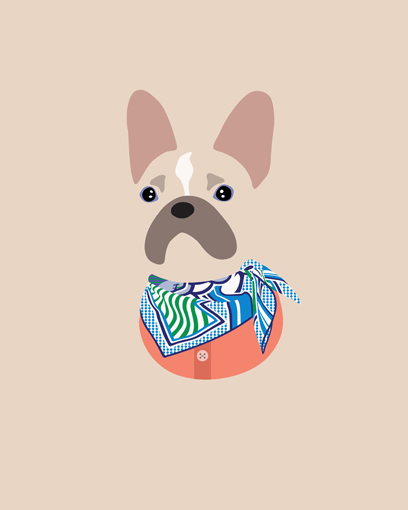 'Thanks to @woofmodels for this amazing portrait of me! I hope i look that cute in real life.' - @monkeythefrenchie86