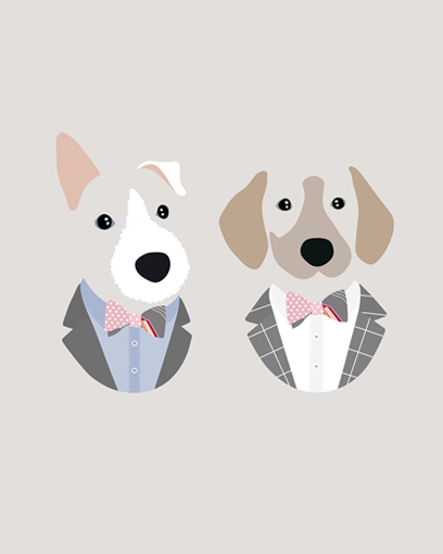 'Thanks for drawing me and @jbthegolden for mom so we don't actually have to wear those suits.' - @teddyrexwestie