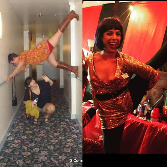 A slightly more accurate then and now... 2009 vs 2019 ...maybe not much has changed after all 🤣  #glowup #glowupchallenge #yoga #notyoga
