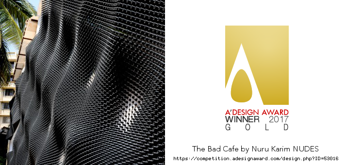 The Bad Cafe wins the Golden A'Design Award, 2017