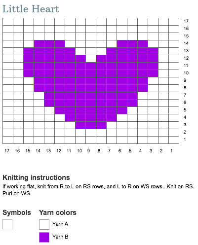 An intarsia chart for you to try