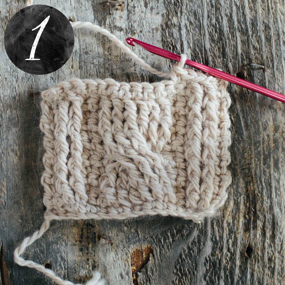 Crochet Stitch Rtrf : Cabled Crochet - Slugs On The Refrigerator