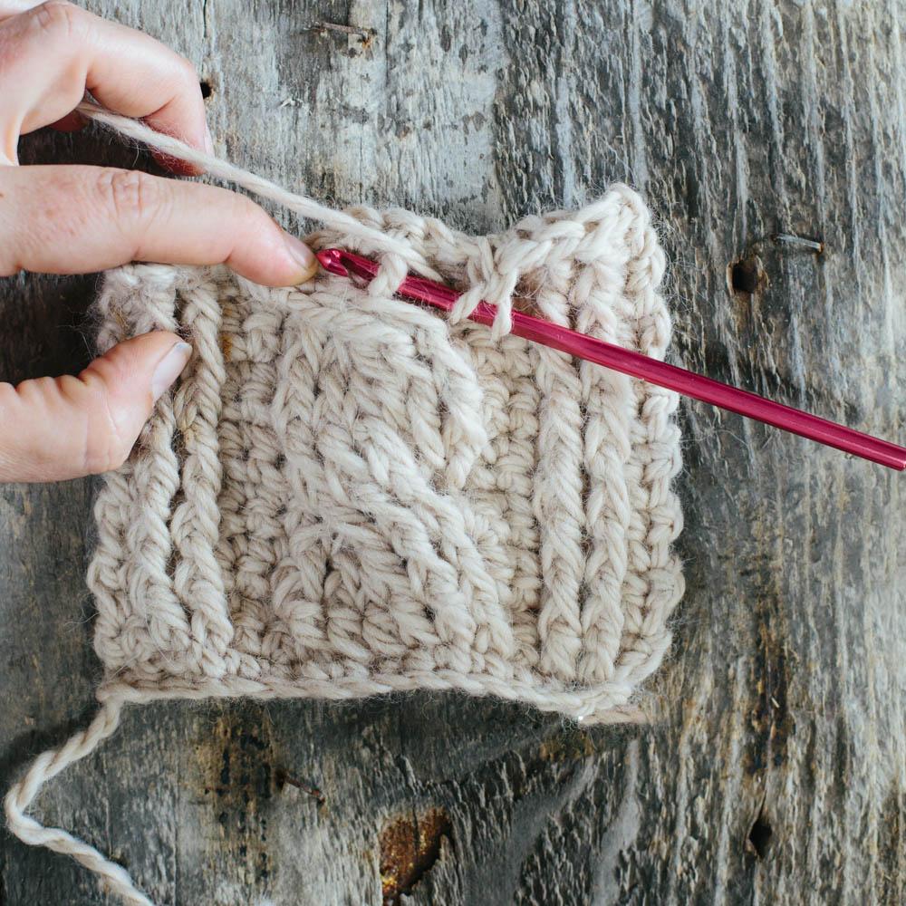Cabled Crochet Gartur Stitch Farm