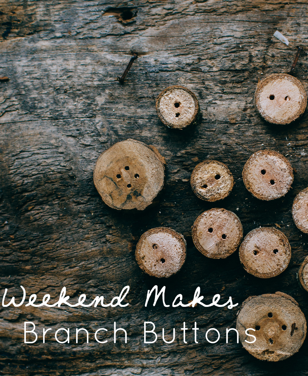 DIY Rustic Branch Buttons