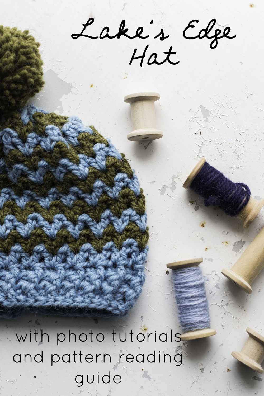 Lake's Edge Hat with photo tutorials