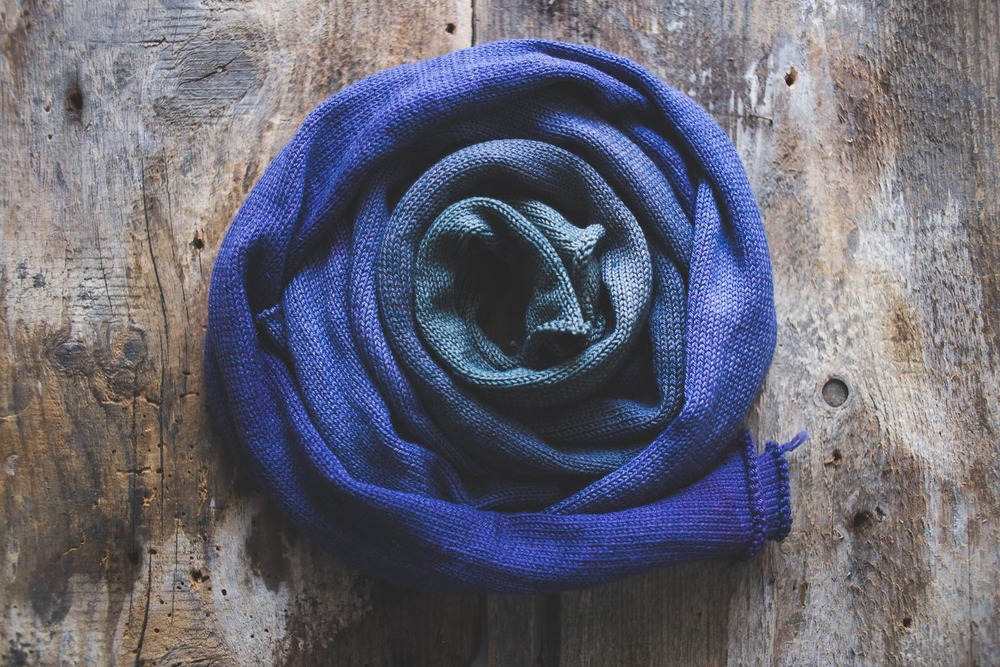 Gradient yarn from Devon Sun Yarns