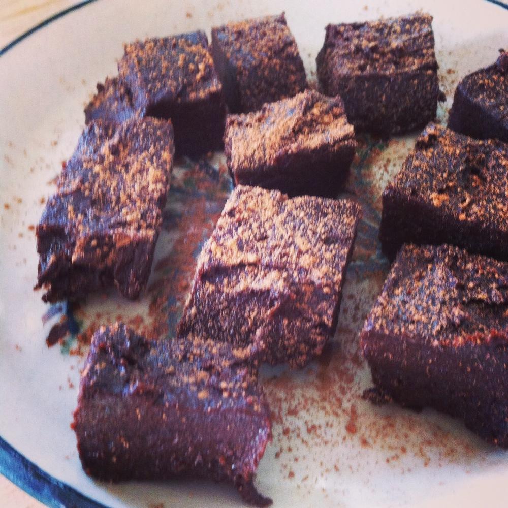 rå brownie