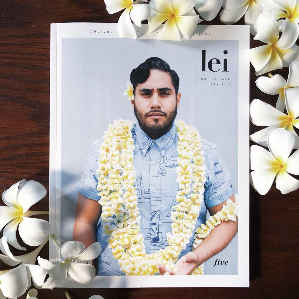 Izik on the cover of Lei Magazine