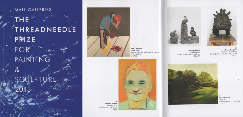 The Threadneedle Prize for Painting and Sculpture 2013 Exhibiton Catalogue