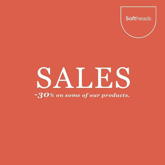 30% off on a selection of our products. Link in Bio 👆🏼 ————— Descuento del 30% en una selección de nuestros productos. Enlace en la Bio 👆🏼 #softheads #sales #deco