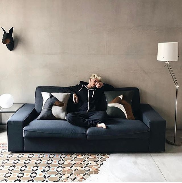 #regram by @sergipedrero. Thanks for sharing this cool picture! We love how our cushions and doberman head look at your stunning place! 😍