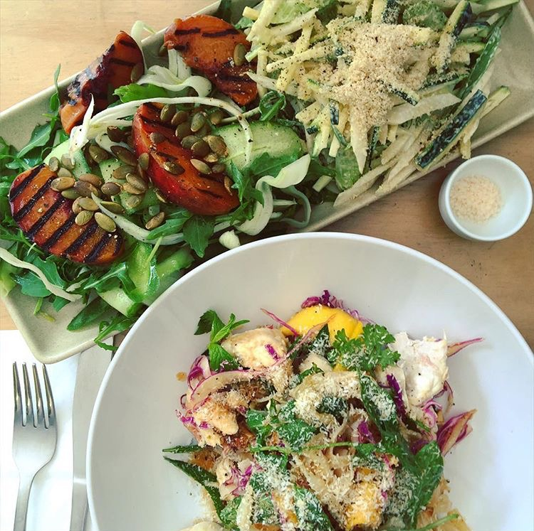 Delicious salad combo at Henley's