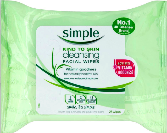 Beauty wipes – I never leave home without my Simple Kind to Skin wipes