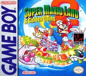 The original box art for Super Mario Land 2: 6 Golden Coins