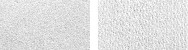 Left:Moab Entrada /Right:Epson Cold Press Watercolor Paper