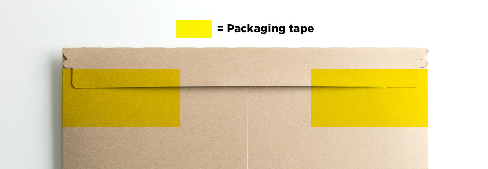After pressing down the adhesive flap, I always wrap two pieces of packaging tape around the ends (right underneath the pull tab to open the flap) just to make sure it doesn't pop open.