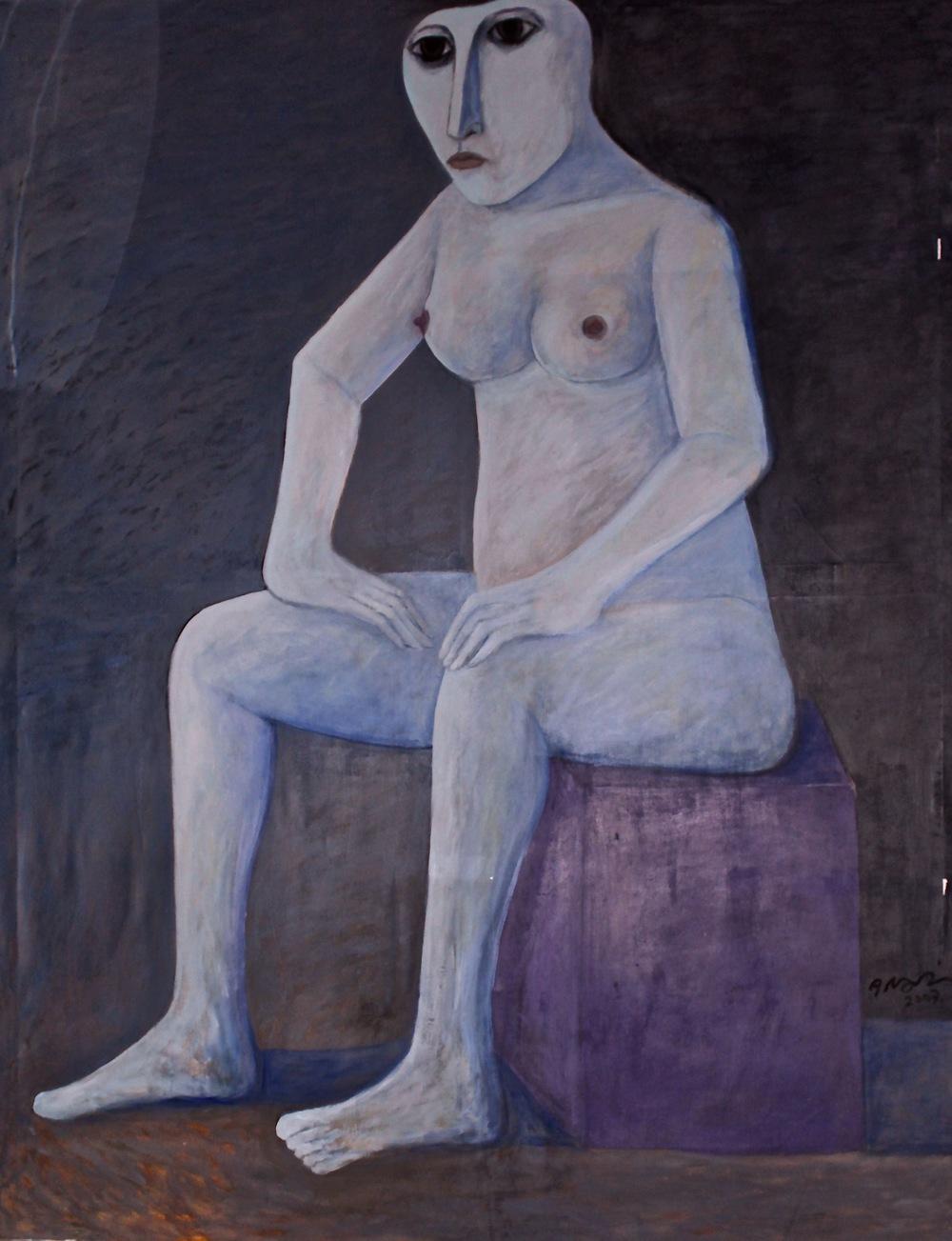 """Seated Nude (2)"""