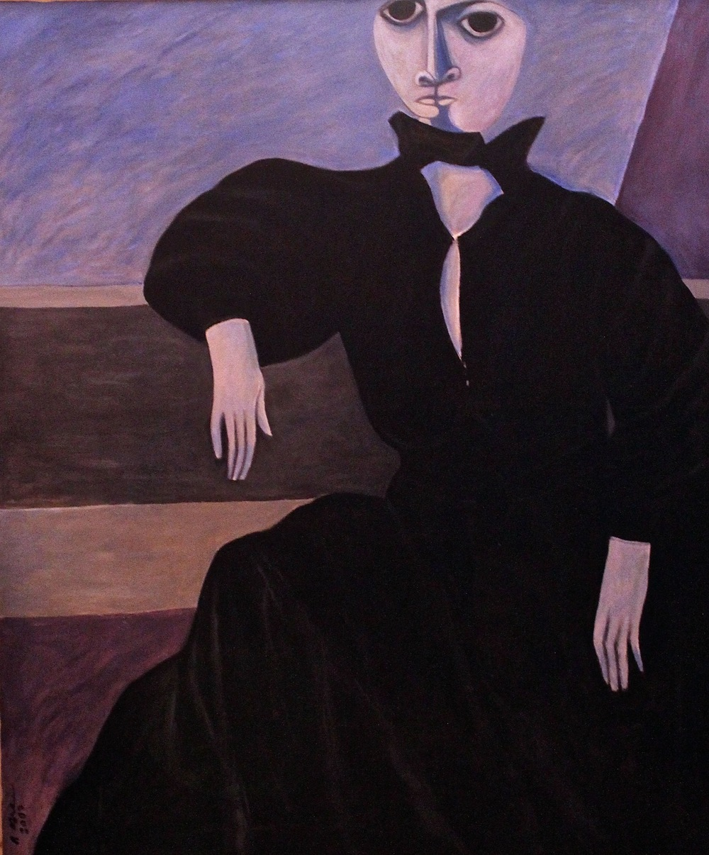 """Lady in Black Gown (1)"""