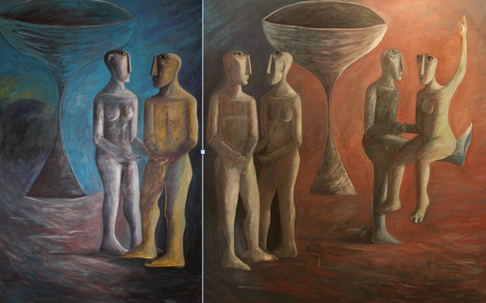 """Lovers (2)"" (diptych)"