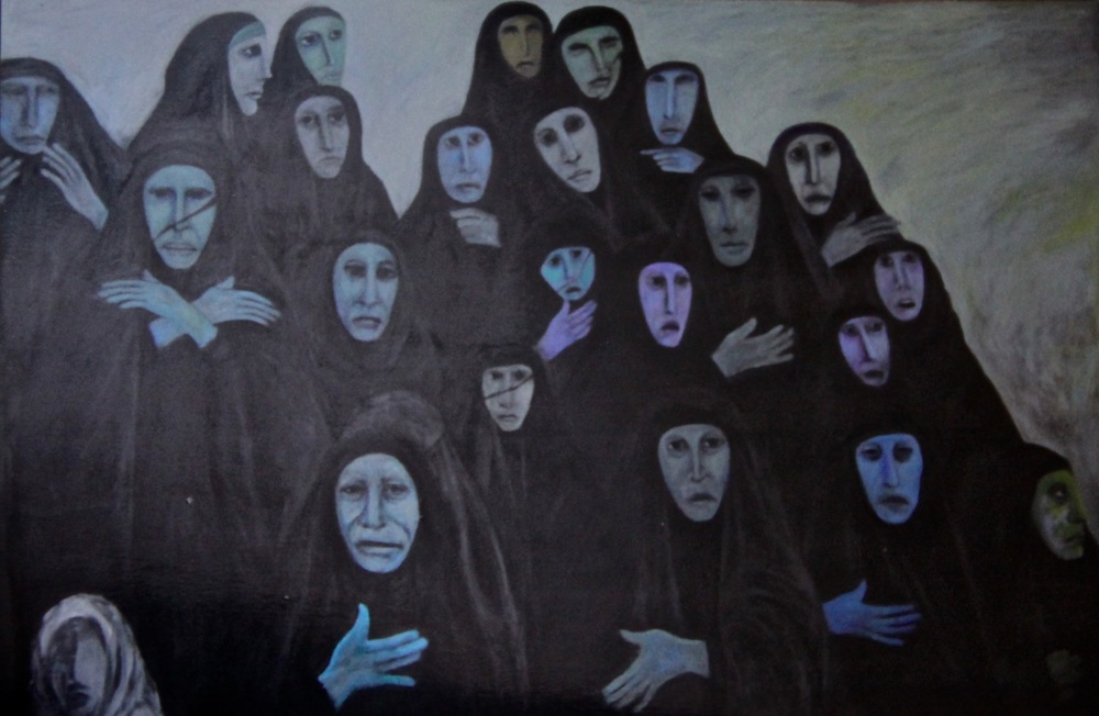 """Iraqi Weeping Women (2)"""