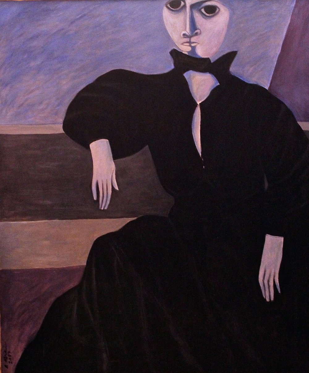 """Lady in Black Gown"""