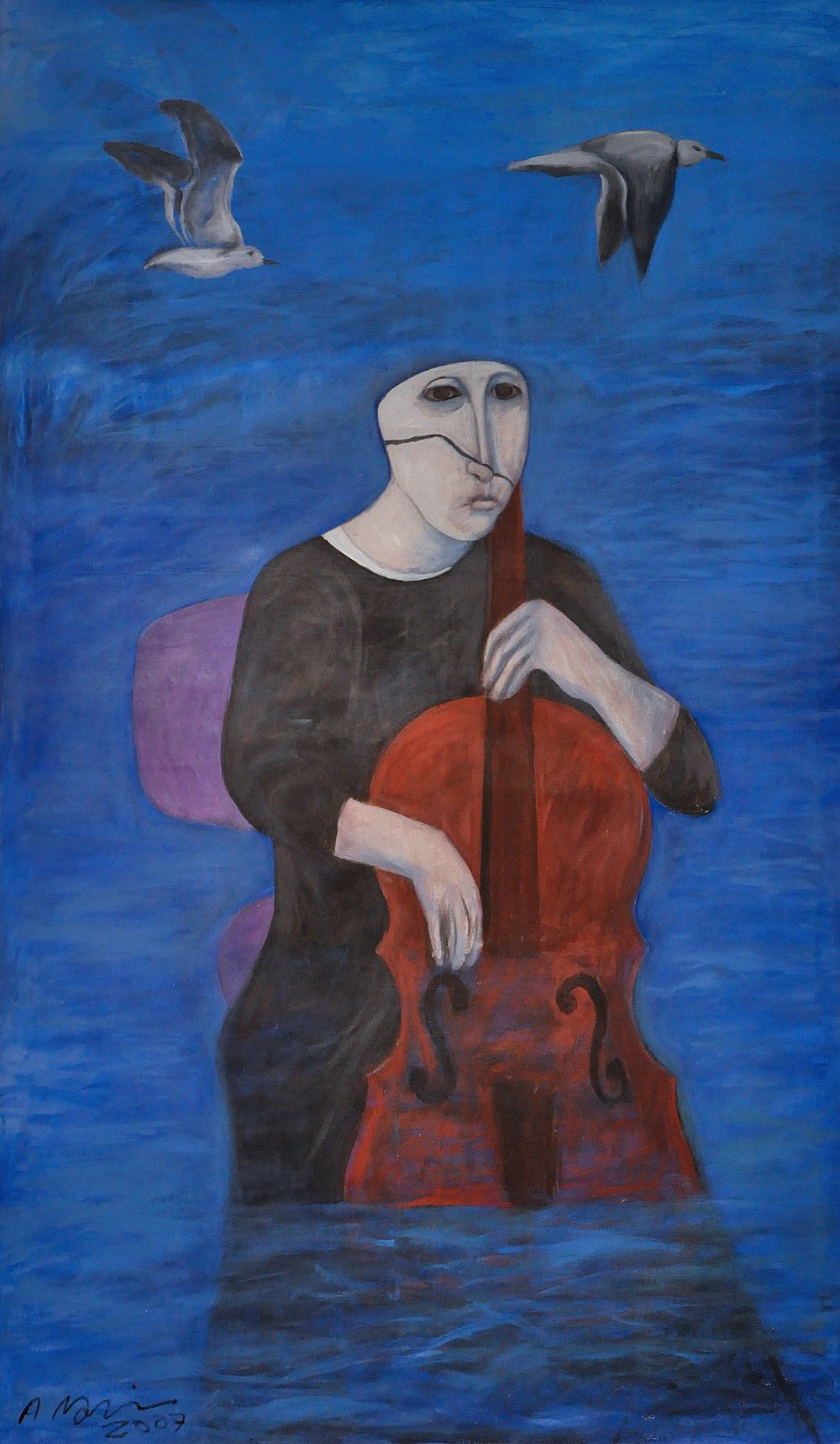 """The Cello Player"""