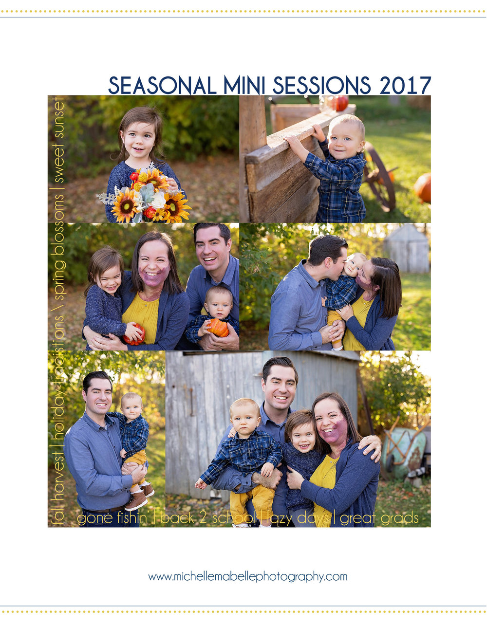 Seasonal Mini Session Guide