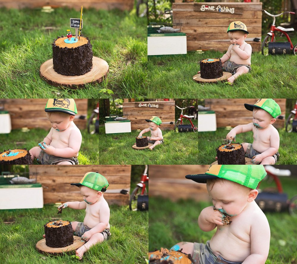 gone fishing cake smash