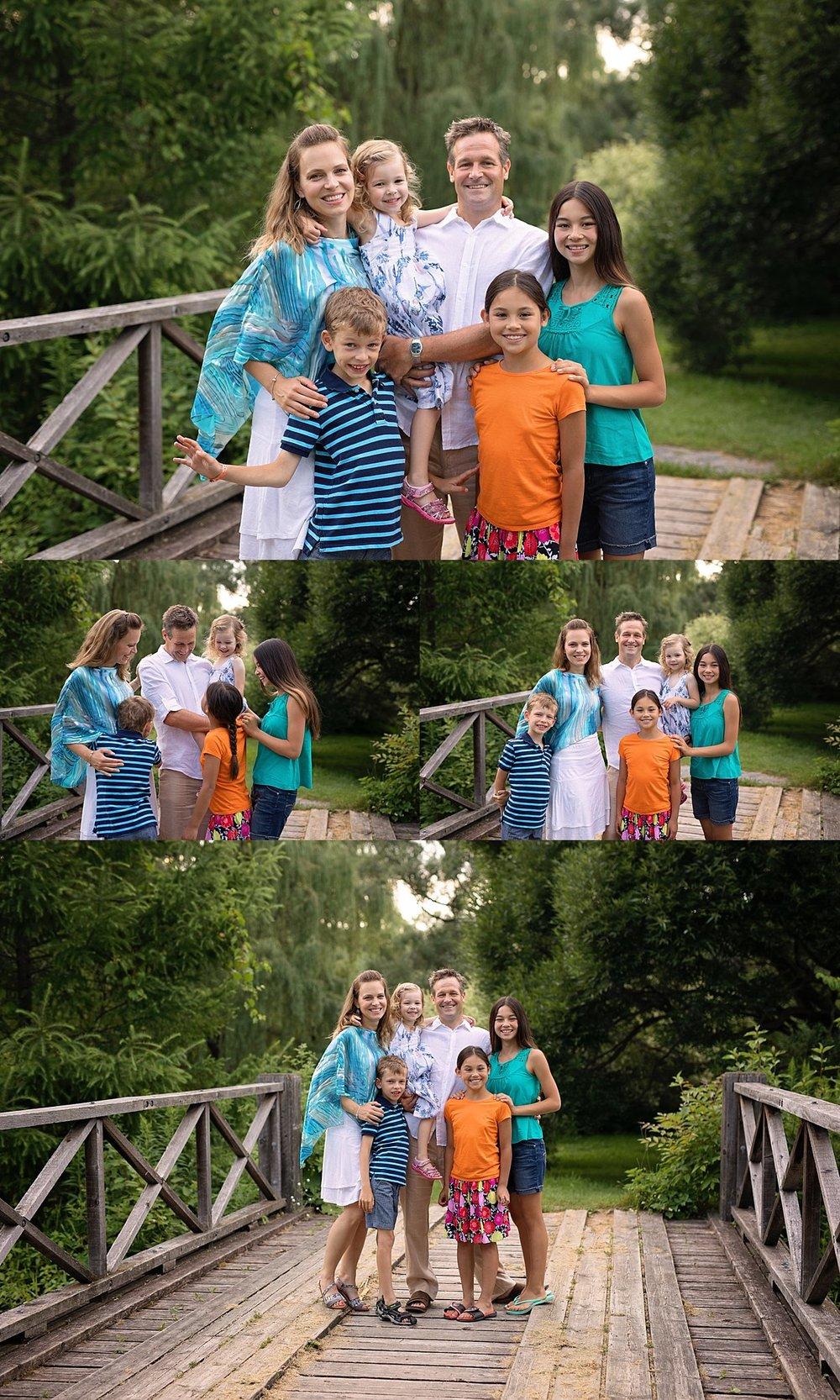 family portrait on bridge