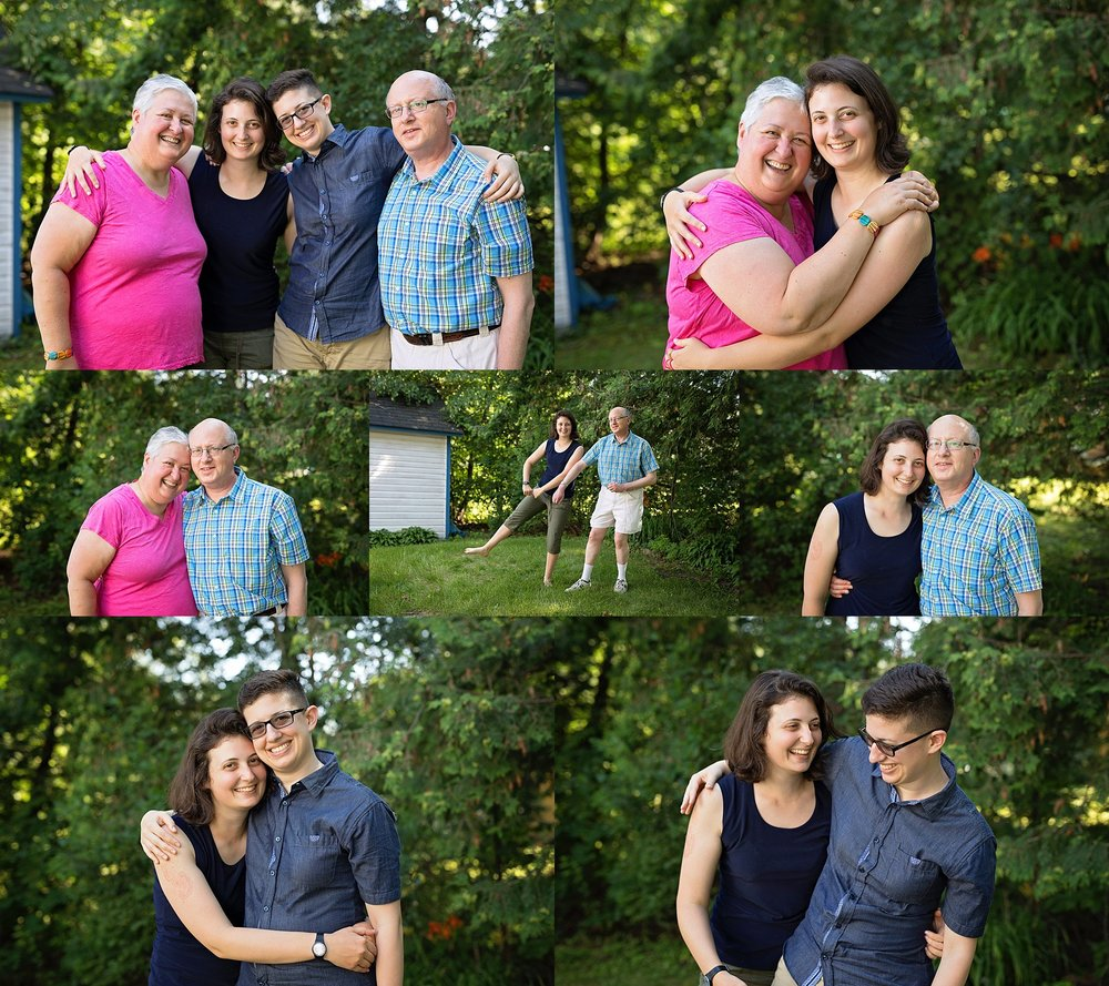 family portraits at cottage