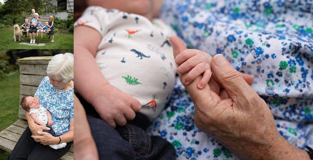 newborn with grandmother