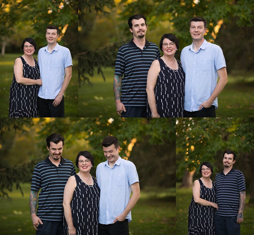mother with adult sons  portraits ottawa