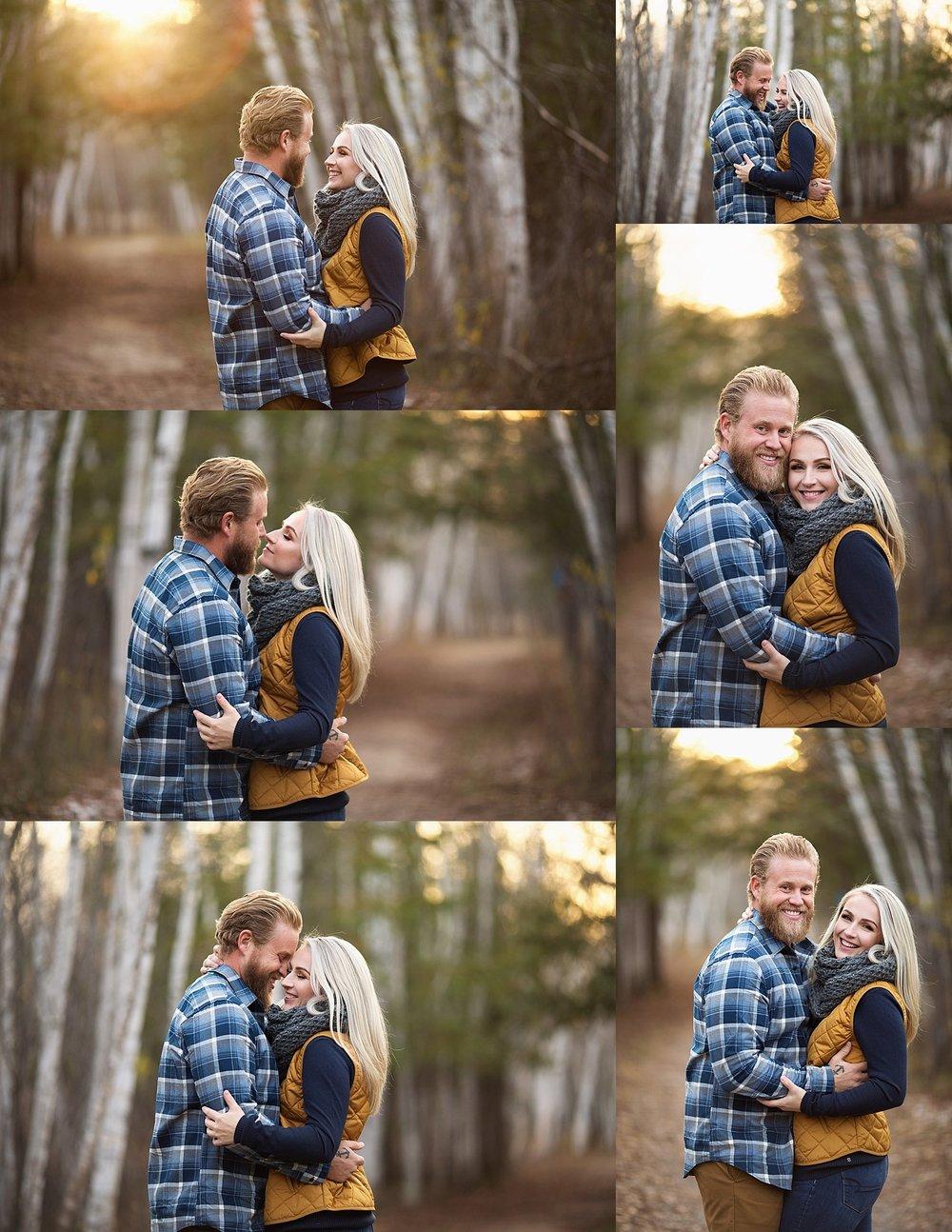 fall couple portraits