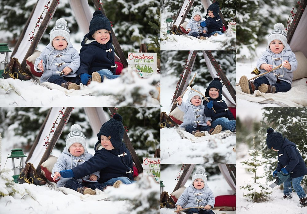 winter photography children