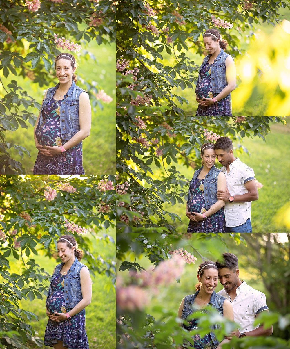 Spring Maternity Portraits, Dominion Arboretum