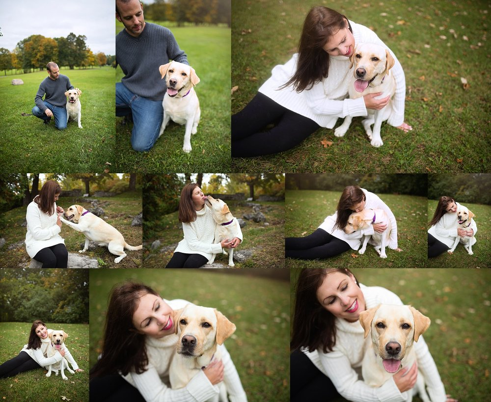couple with dog photo