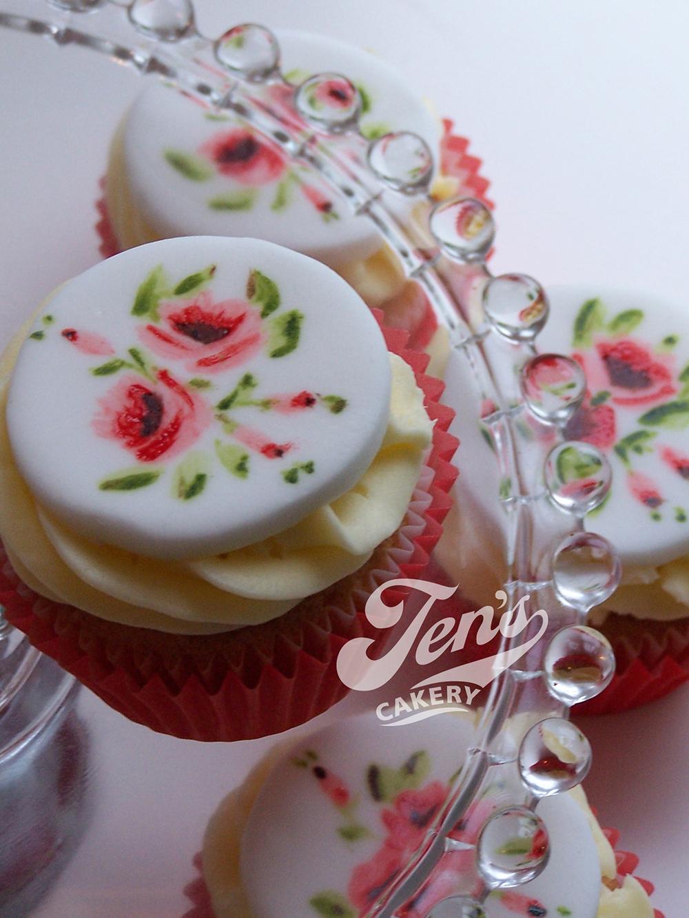 Handpainted cupcakes