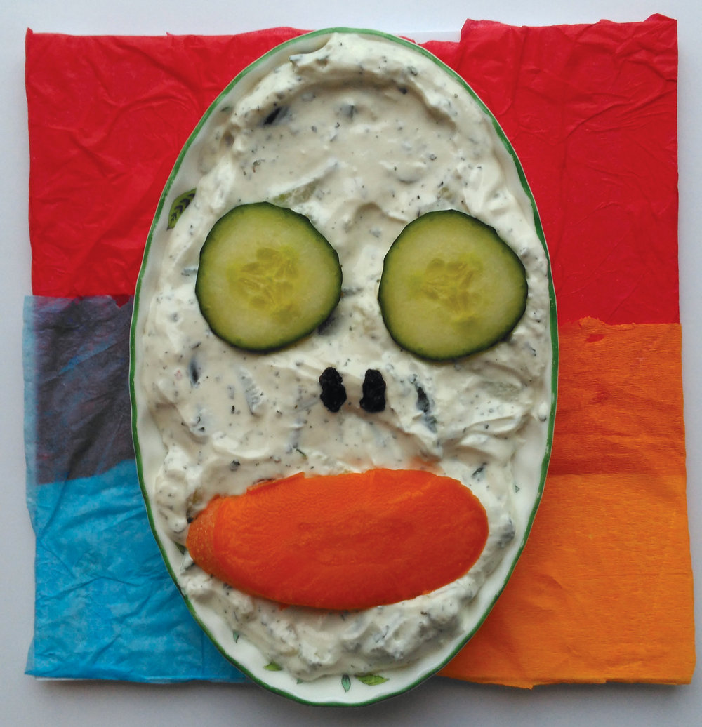 2. Tzatziki, carrot & cucumber (and, err, raisins)