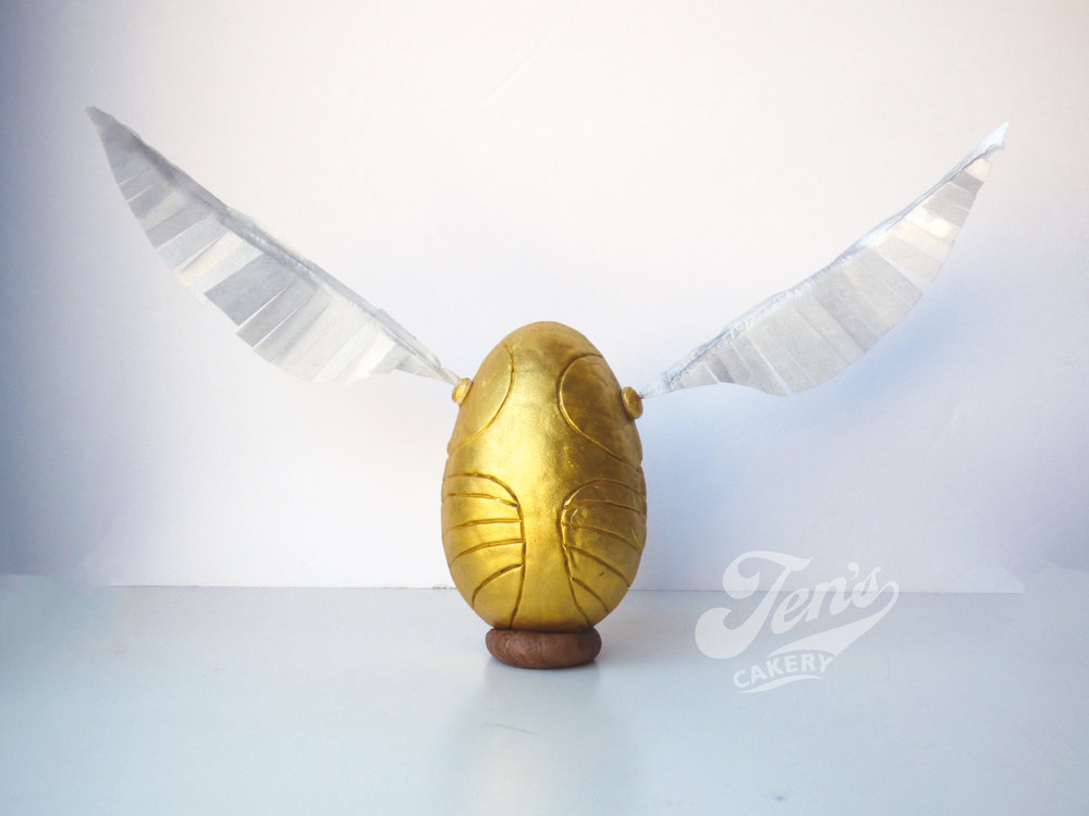 Golden Snitch egg...with edible wings!!