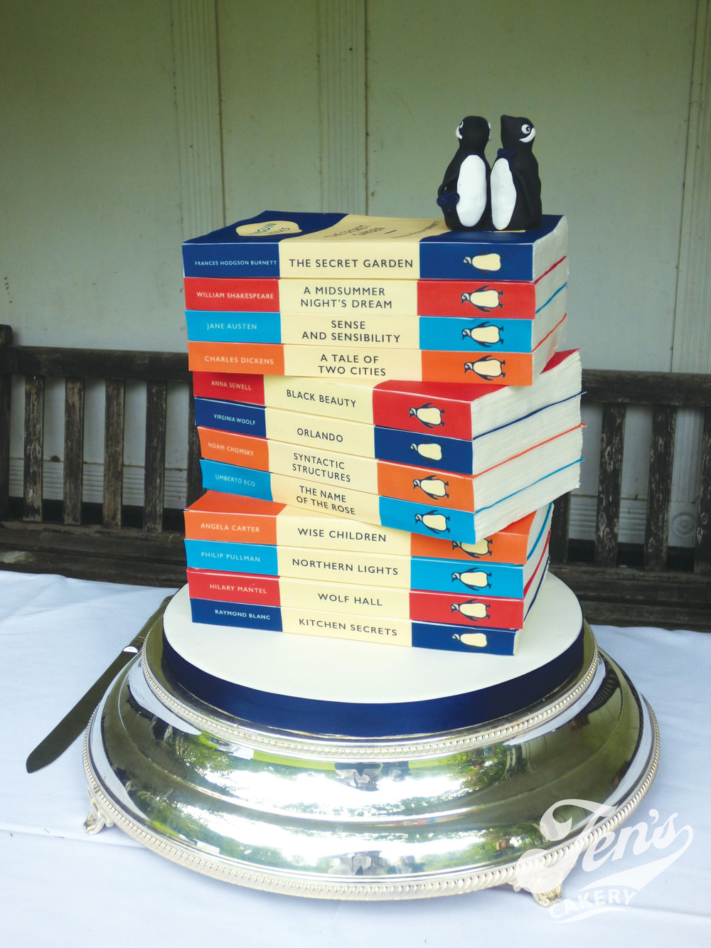Penguin books wedding cake