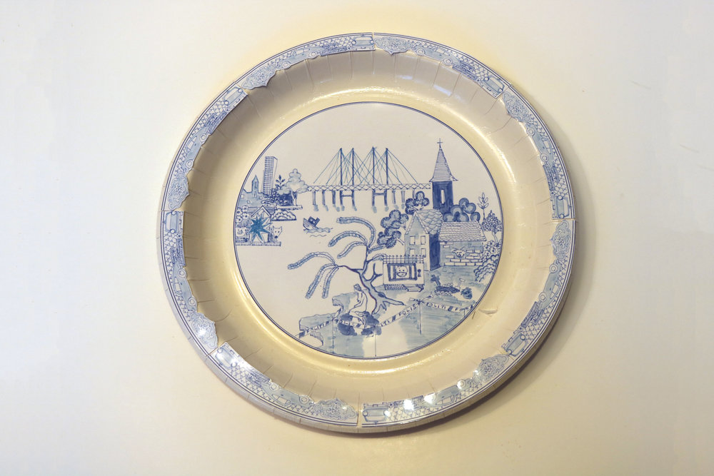 28 and 29. Sort-of willow pattern plates…these represent two cities. Look closely…