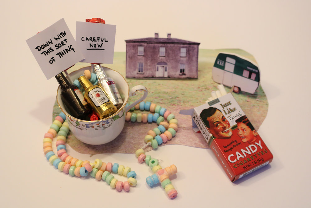 21. A sugar rosary, candy cigarettes, tiny bottles of DRINK….name the fictional place!