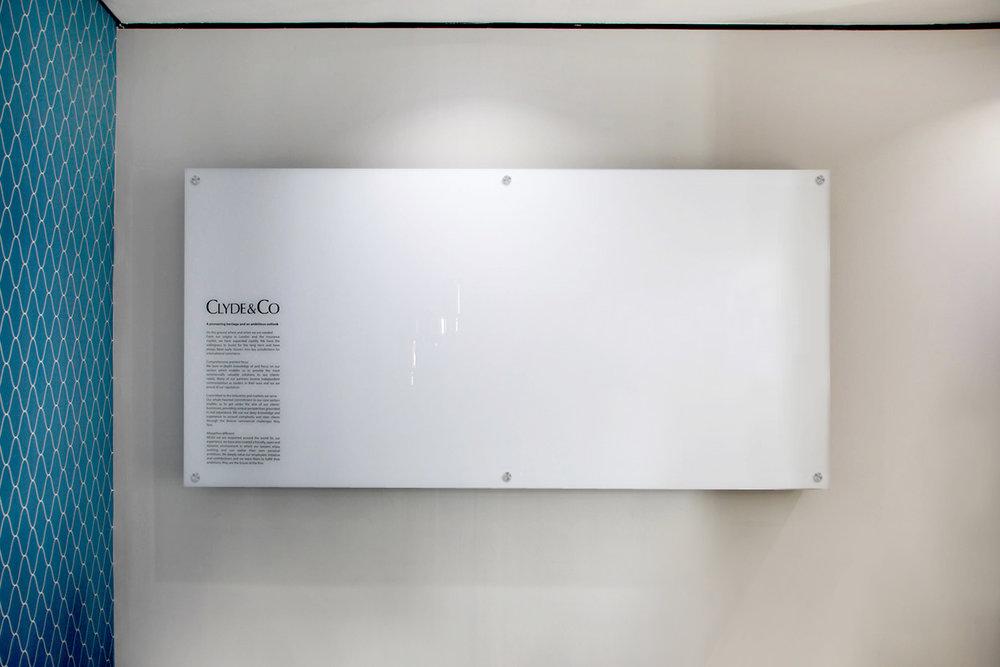 Glass Whiteboard on Lugs