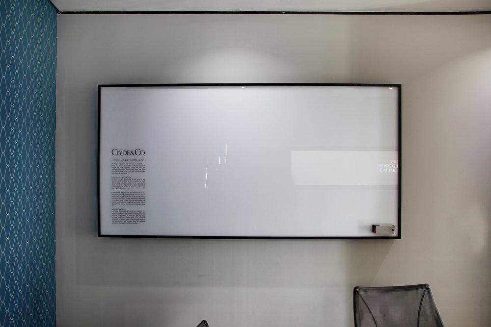 Framed Glass Whiteboard