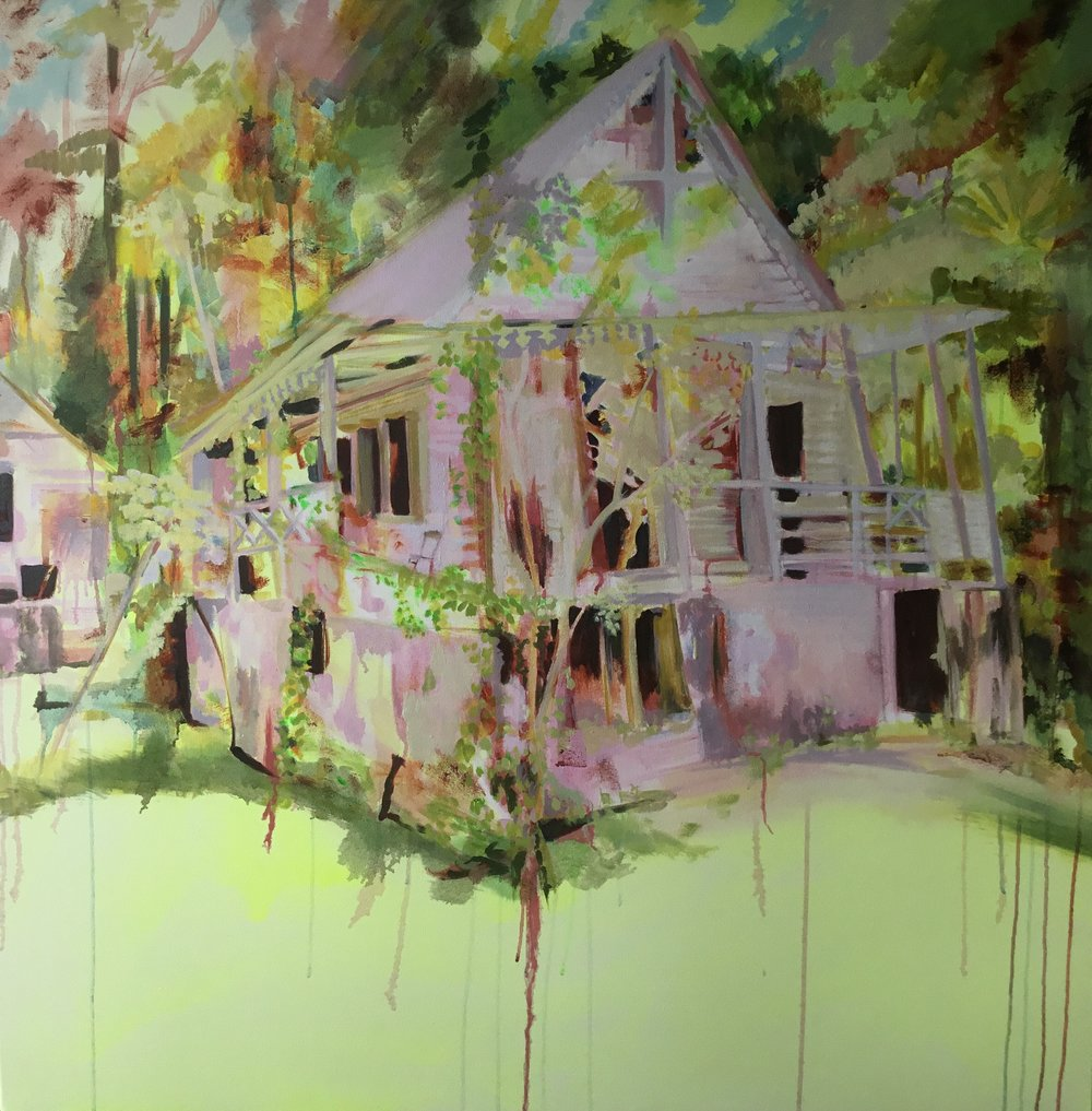 Plantation House oil on canvas 123cm x 123cm 2017
