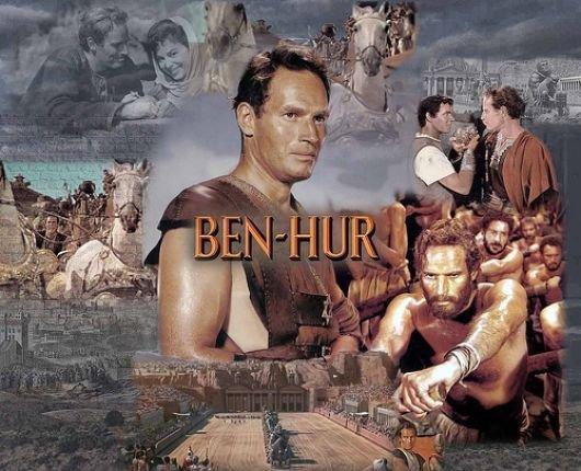 Charleston Heston as Judah inBen Hur.