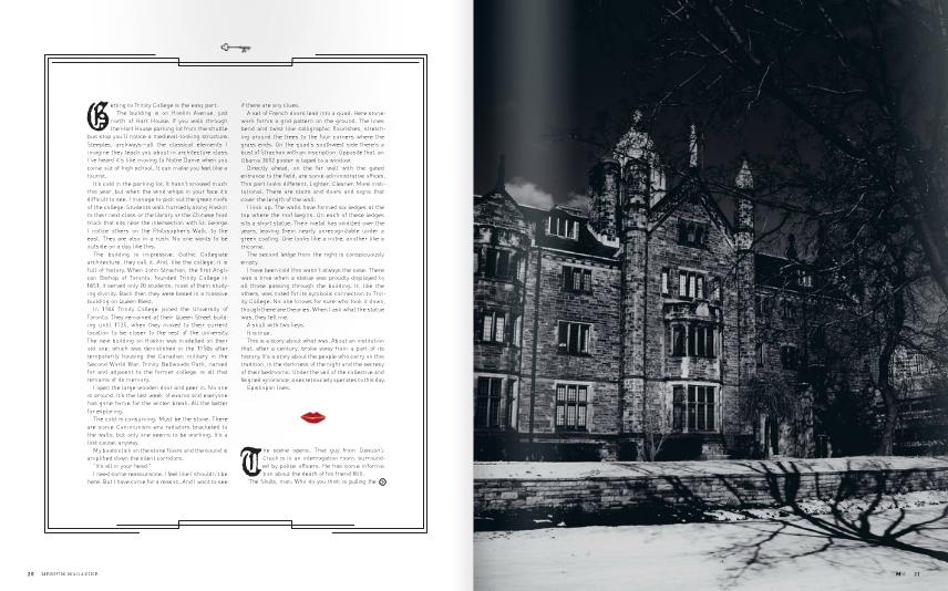"Rae Maxwell for Medium Magazine, Toronto. ""Dirty Little Secret"""