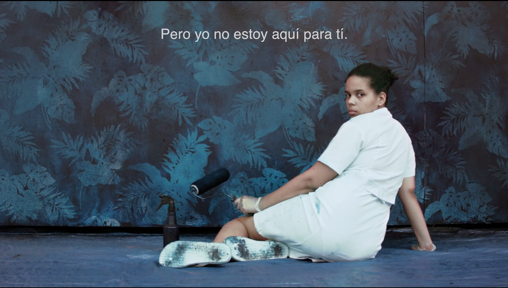 Joiri Minaya - Not here for you - 2014 - still image from a 8.29 min HD Video.png