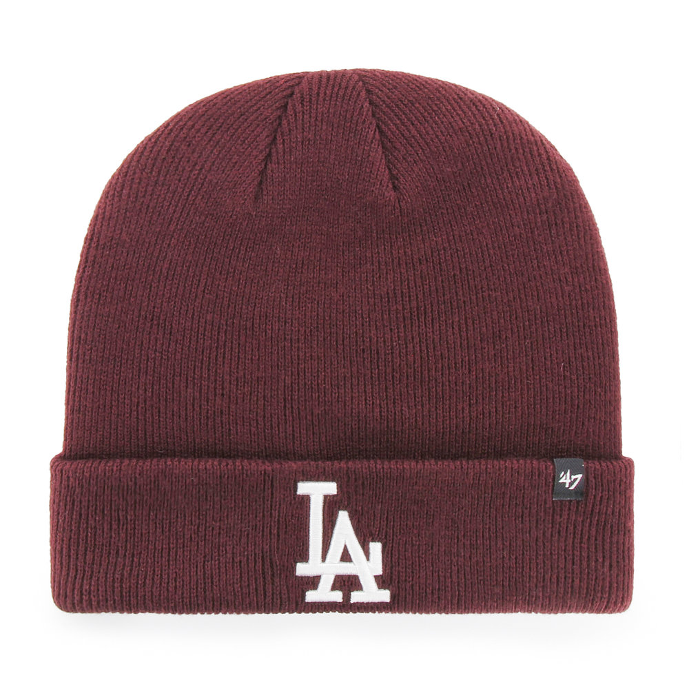 '47 Los Angeles Dodgers Raised Cuff Knit Beanie in Maroon, £17.99  Available from www.hatstore.co.uk